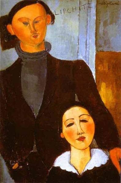 the sculptor jacques lipchitz and his wife berthe lipchitz 1916 XX art institute of chicago chicago il usa